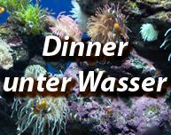 Dinner unter Wasser