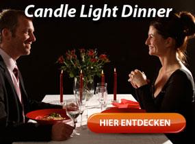 Romantisches Candle Light Dinner als Erlebnisdinner für 2