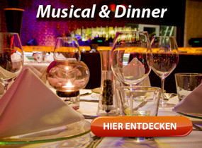 Musical & Dinner Shows - Musicaldinner, Musicalkomoedie Nonsens uvm.